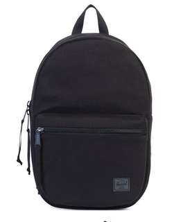 Authentic Herschel Lawson Backpack Black canvas