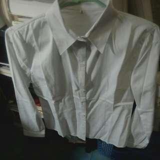 🚚 全白OL襯衫