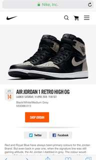 Looking to Trade Jordan 1 Shadow US10 to US9 or US9.5