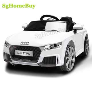 In-stock - white new Audi TT kids electric car