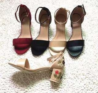 Rm38💕💕Embroidered Ankle strap Korea latest heels #letgo50