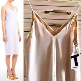 🆕T by Alexander Wang White 100% Silk Dress 白色絲質裙