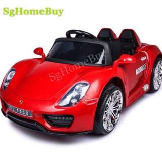 In-stock - Red porches electric car for kids