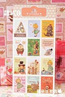 Alice in Wonderland Stamp Sticker