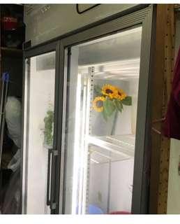 2 door glass fridge for sale