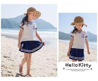 (預購) hello Kitty 短袖裙褲套裝 110-150碼