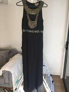 Kachel Black maxi dress