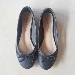Rampage Black Ballet Flats