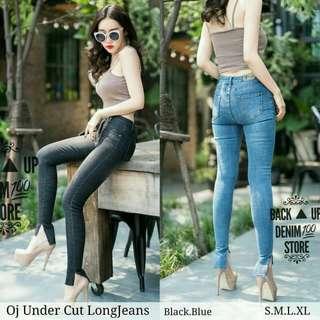 Under cut jeans