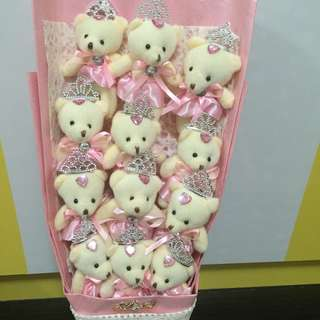 Mother day best gift for wife & mum a bouquet of bears