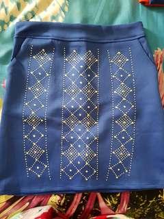 New blue skirt scuba!
