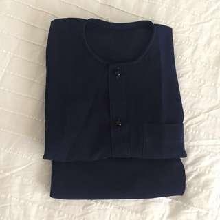 Navy Blue Baju Melayu 4yo (leher teluk belanga)