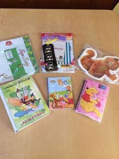 Cartoon Character Notebooks/Stationery