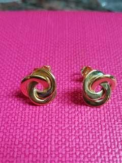 18K750 Yellow Gold Earrings               ❤Love Knot❤ 18K750 黃金意大利耳環