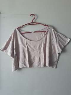 Forever 21 Cropped Blouse Rose Pink