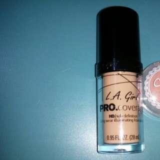 Foundation LA GIRL shade nude beige baru sekali pake