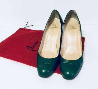 Christian Louboutin green wedges size 40.5