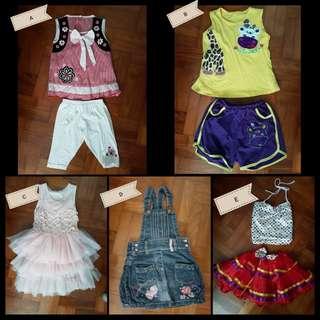 Girls' clothings