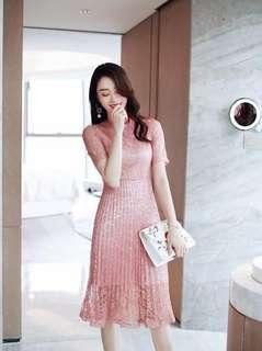 Pink lace elegant Dress