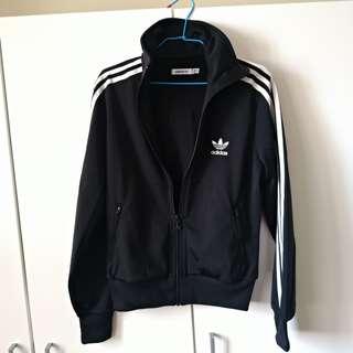Adidas trackjacket 運動外套 黑白 uniqlo zara h&m