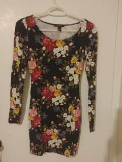 Forever 21 Floral Fitted Mini Dress