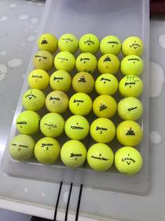 Used yellow balls.30pcs.Cond:8/10