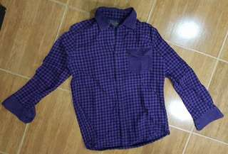 Checkered Polo Long Sleeves Flannel