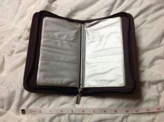 120 CARD SLOT ORGANIZER LEATHER SUEDE MADE