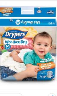 Drypers Size M (74+4)