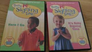 Baby signing time DVD (x2)