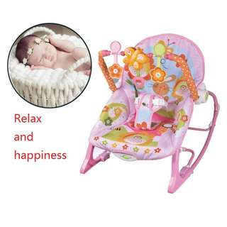 ORIGINAL I-baby infant to toddler musical vibration rocking chair AB41901 PINK