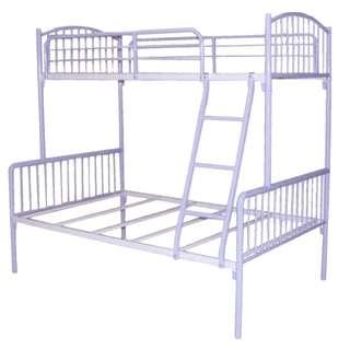 銀色碌架床 鐵床 (送木床板)