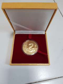 24k gold plated 2013 snake coin
