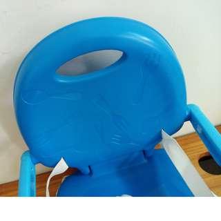 二手 Chicco 攜帶式輕巧餐椅坐墊(鯨魚藍)