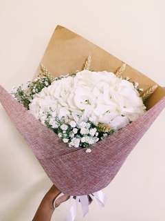 Graduation bouquet/Hydrangea bouquet/Proposal bouquet/White bouquet
