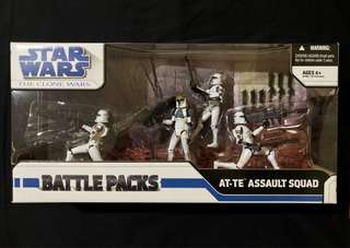 Star Wars The Clone Wars AT-TE Assault Squad Battle Pack