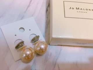 🚚 大珍珠耳環