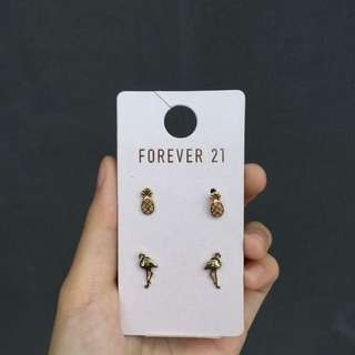 Anting F21 Pineapple and Flamingo