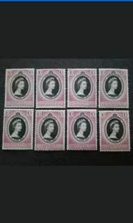 Malaya 1953 Coronation Queen Elizabeth II FOR 8 States - 8v MLH Malaya Stamps
