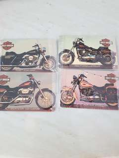Harley Davison phone card x4