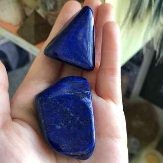 Deep Blue Lapis Lazuli Tumbled Stones (XLarge)