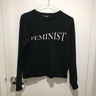 POMELO feminist long sleeve shirt