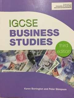 IGCSE BUSINESS STUDIES (3rd edition)