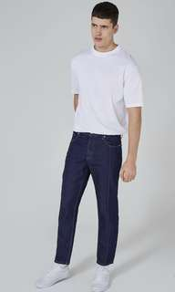 CLEARANCE SALE- TOPMAN Vintage Indigo Front Seam Jeans