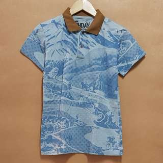 Artwork Printed Polo Shirt