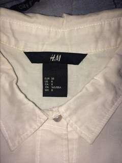 Kemeja h&m boyfriend shirt