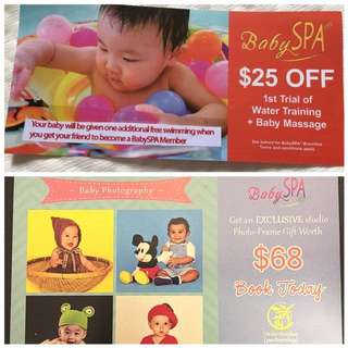 Combo baby photography & baby spa voucher