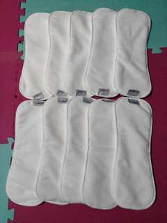 10 4-layer Microfiber insert for cloth diaper