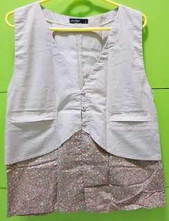 Penshoppe Floral Chic Button-down Vest