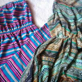 BUNDLE #33 : Beach Maxi Dress & Aztec Dress